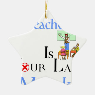 Your Best Teacher is Your Last Mistake Ceramic Star Decoration