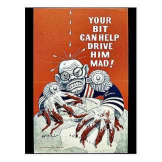 Your Bit Can Help Drive Him Mad! Postcard