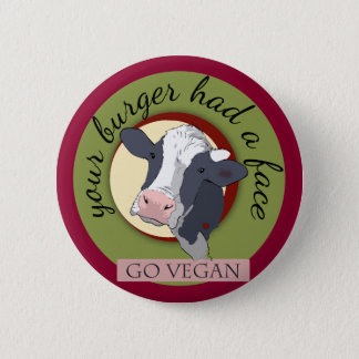 Your Burger Had a Face 6 Cm Round Badge