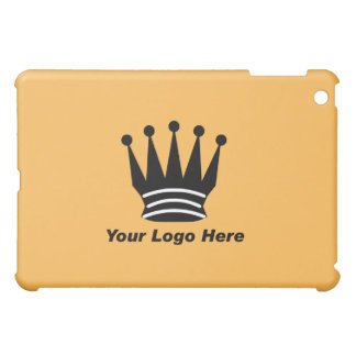 Your business brand logo custom orange  iPad mini cover