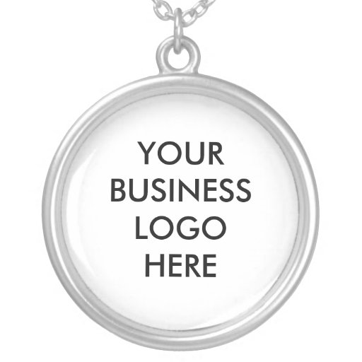 """""""Your business logo here"""" necklace"""