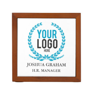 Your Business Logo | Job Title Custom Desk Organiser