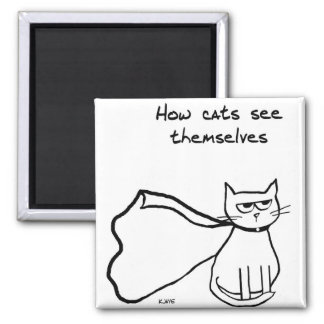 Your Cat the Superhero - Funny Cat Gift Square Magnet