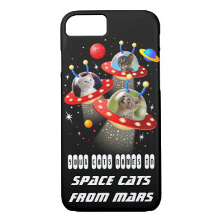 Your Cats in an Alien Spaceship UFO Sci Fi Film iPhone 8/7 Case