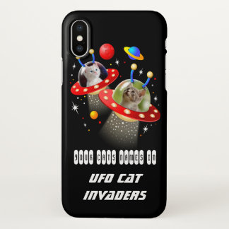 Your Cats in an Alien Spaceship UFO Sci Fi Film iPhone X Case