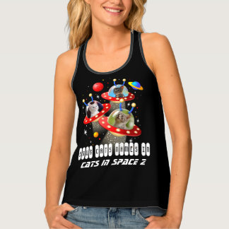 Your Cats in an Alien Spaceship UFO Sci Fi Film Singlet