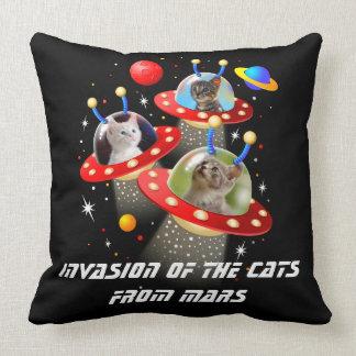 Your Cats in an Alien Spaceship UFO Sci Fi Scene Cushion