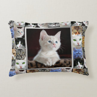 Your Cats Photo Custom Collage Pillow