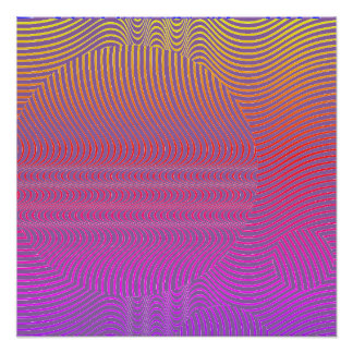 Your color with Op Art Waves Poster