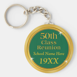 Your COLORS and TEXT 50th Class Reunion Favors Key Ring
