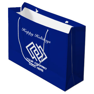 Your Company Holiday Party Logo Gift Bag Large B