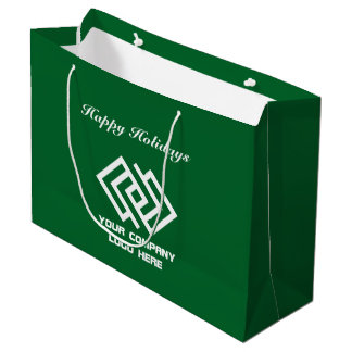 Your Company Holiday Party Logo Gift Bag Large G