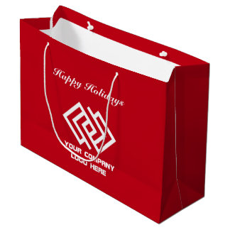 Your Company Holiday Party Logo Gift Bag Large R