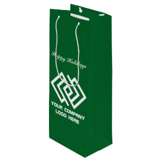 Your Company Holiday Party Logo Wine Gift Bag G