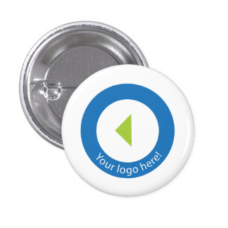 Your Company Logo Easy Template 3 Cm Round Badge