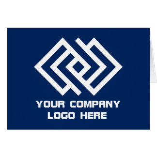 Your Company Logo Greeting Card - Choose Color