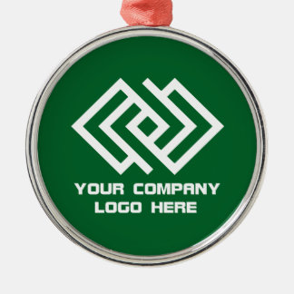 Your Company Logo Holiday Ornament Green R