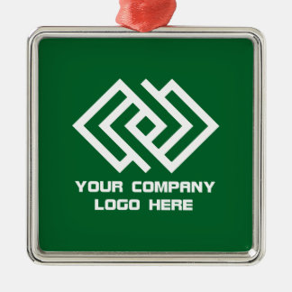Your Company Logo Holiday Ornament Green S