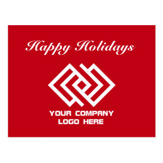 Your Company Logo Holiday Postcard Red