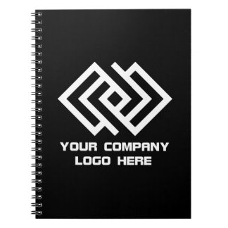 Your Company Logo Notebook Black or Change Color