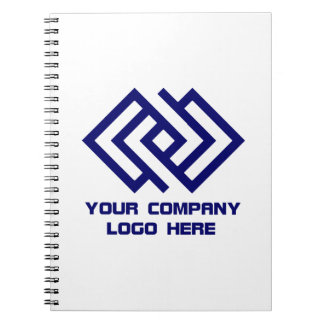 Your Company Logo Notebook White or Change Color