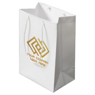 Your Company Logo Party Gift Bag Medium W