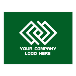 Your Company Logo Postcard Green