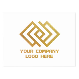 Your Company Logo Postcard White