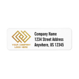 Company return address labels zazzlecomau for Business logo return address labels