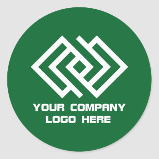 Your Company Logo Stickers Green