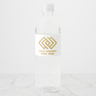Your Company Logo Water Labels White