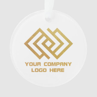Your Company Logo White Holiday Ornament