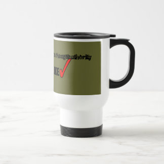 [your company name here] stainless steel travel mug