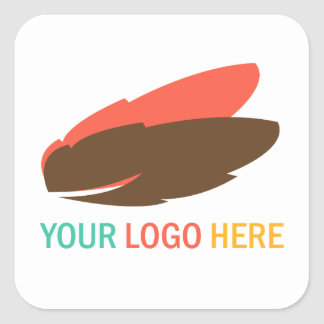 Your company or business logo square promotional square sticker