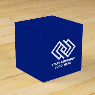 Your Company Party Logo Favor Box Blue