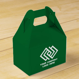 Your Company Party Logo Favor Box Green G