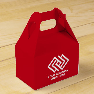 Your Company Party Logo Favor Box Red G