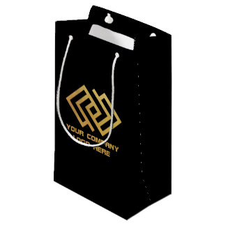 Your Company Party Logo Gift Bag Small Black
