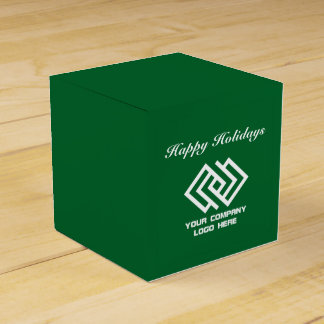 Your Company Party Logo Holidays Favor Box Gr