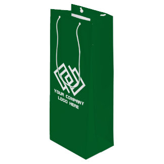 Your Company Party Logo Wine Gift Bag Green