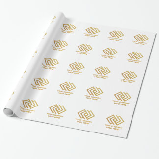 Your Company Party Logo Wrapping Paper White