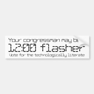 Your congressman may be a 12:00 flasher bumper sticker