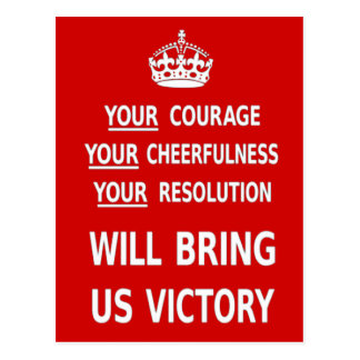 Your Courage Will Bring Us Victory. Best Price Postcard