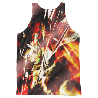 Your Custom All-Over Printed Unisex Tank, dsn3set3 All-Over Print Singlet