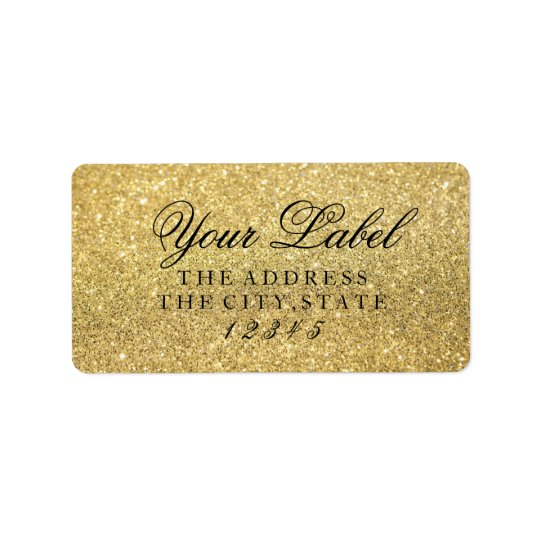 Your Custom Label - Gold Glam