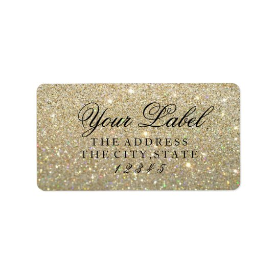Your Custom Label - Gold Glitter Fab