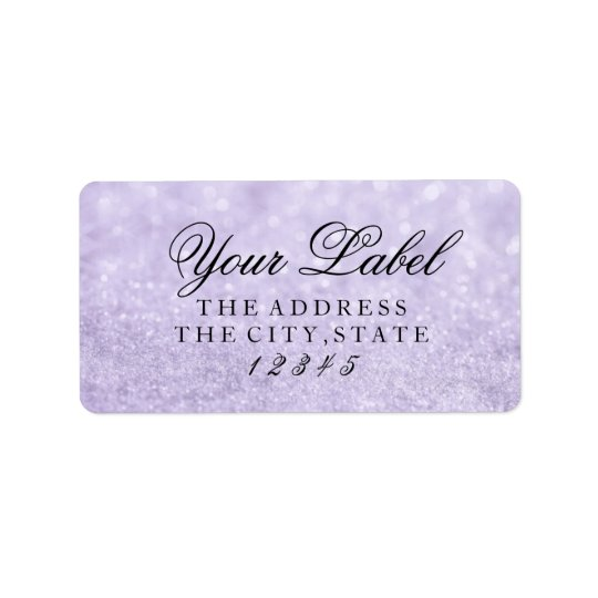 Your Custom Label - Lit Purple Glit Fab Address Label