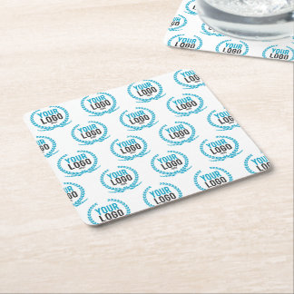 Your Custom Logo | Image All Over Patterned Square Paper Coaster