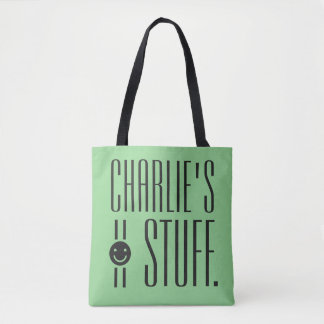 YOUR (custom name & color) STUFF bags