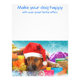 your dog happy flyer design